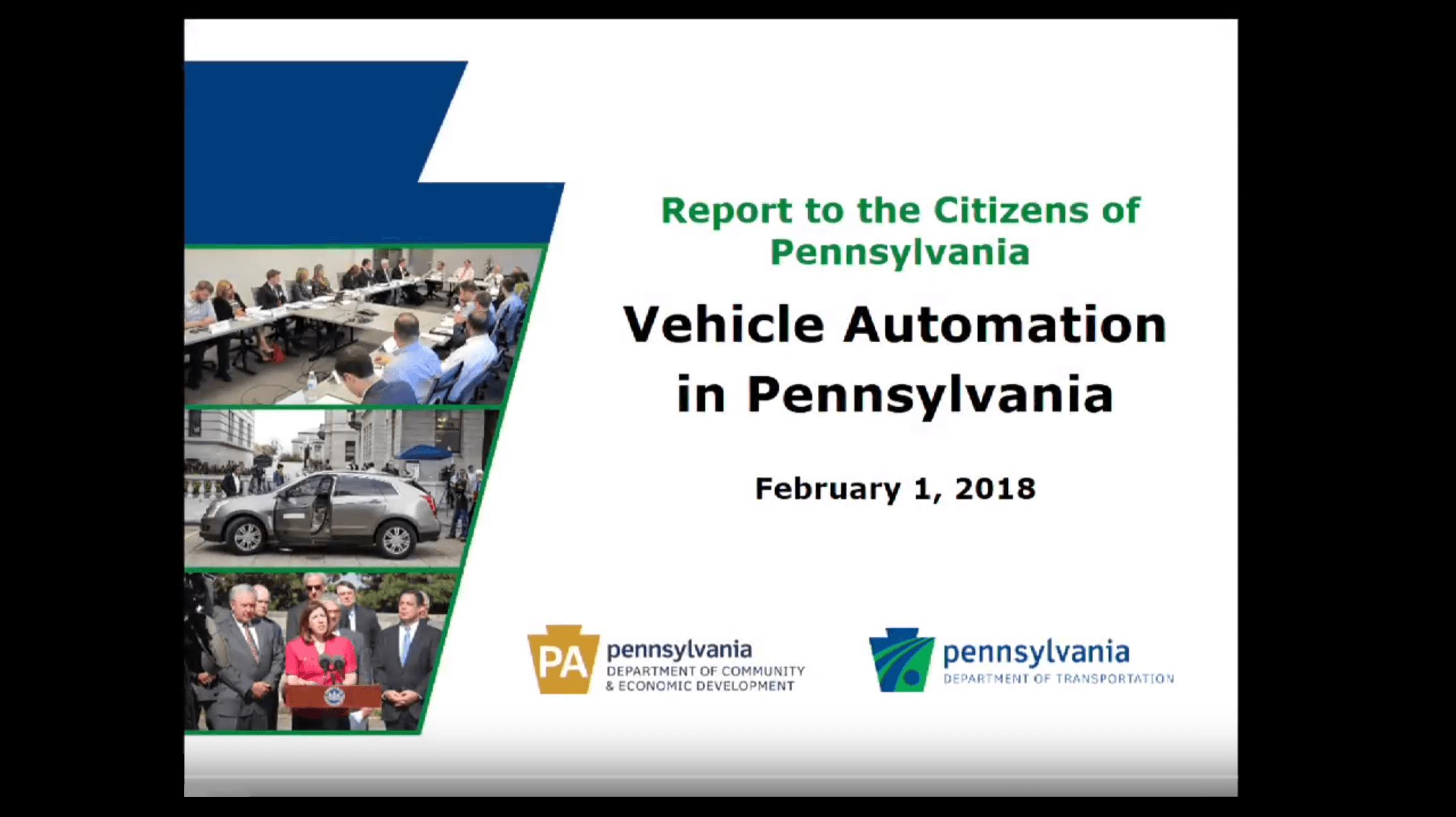 Vehicle Automation in Pennsylvania